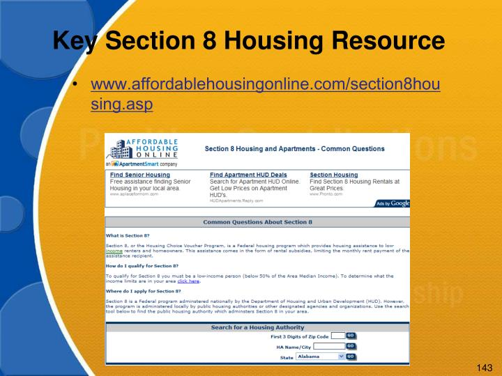 Key Section 8 Housing Resource