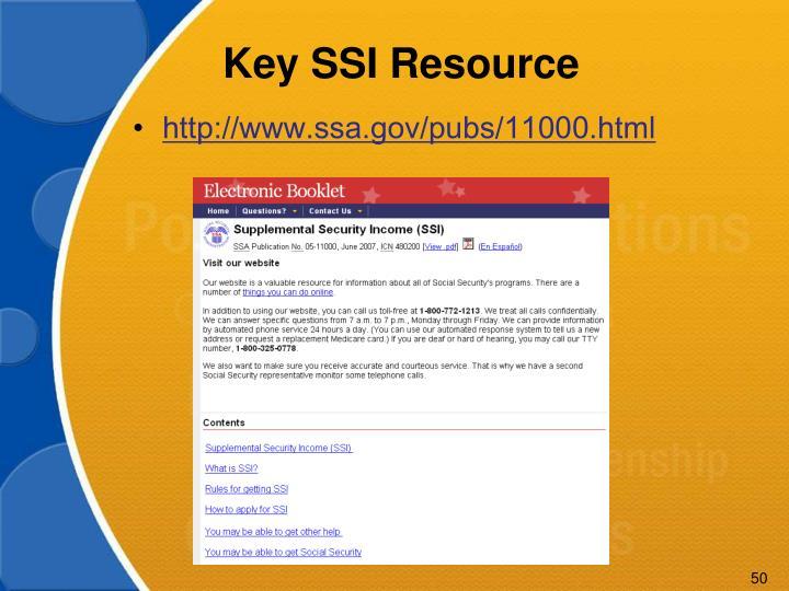Key SSI Resource