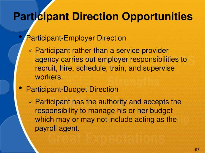 Participant Direction Opportunities