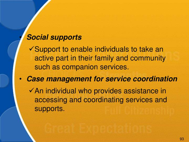Social supports
