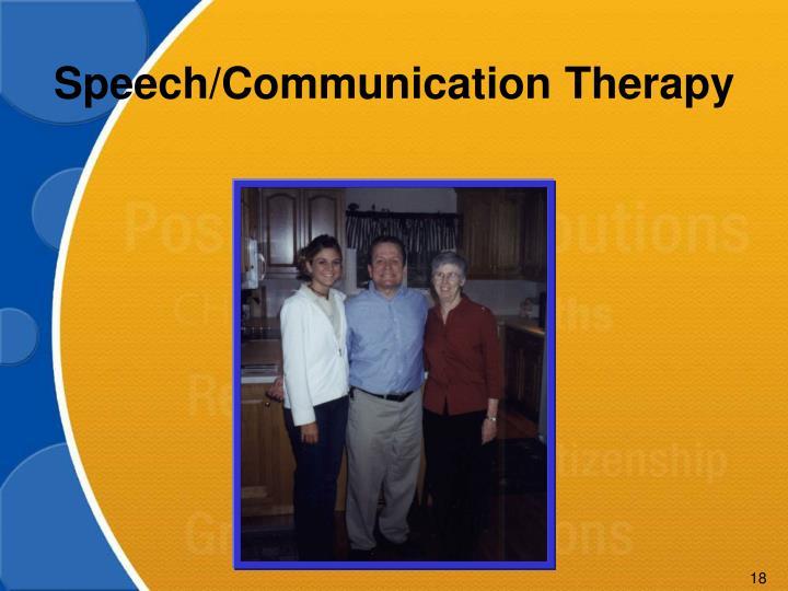 Speech/Communication Therapy