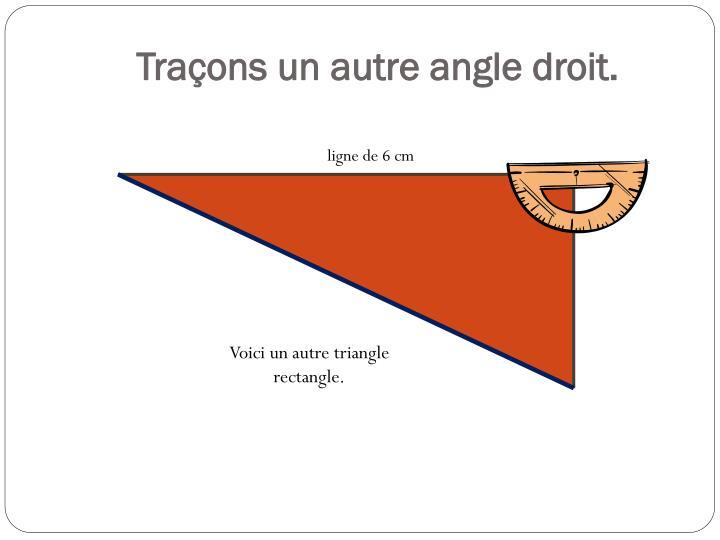 Traçons un autre angle droit.