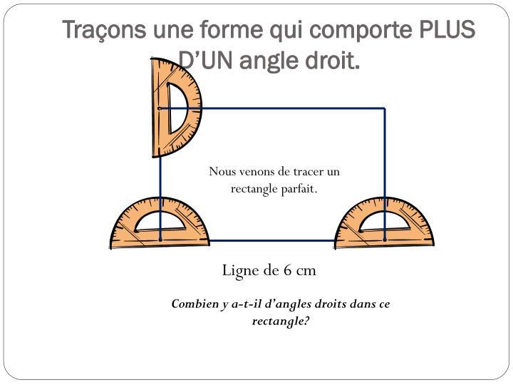 Traçons une forme qui comporte PLUS D'UN angle droit.