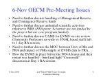 6 nov oecm pre meeting issues