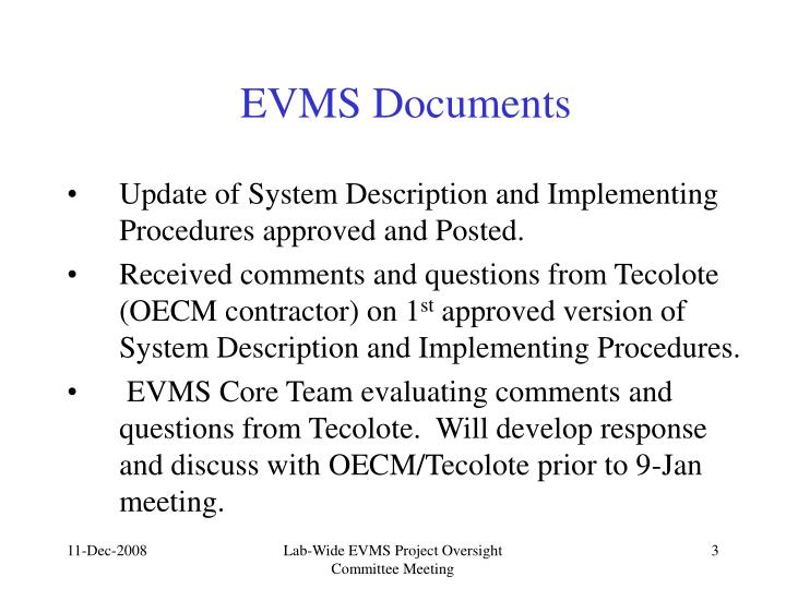 Evms documents
