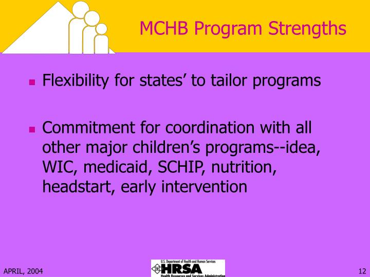 MCHB Program Strengths