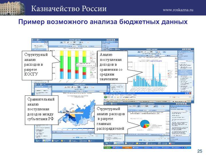 Пример возможного анализа бюджетных данных