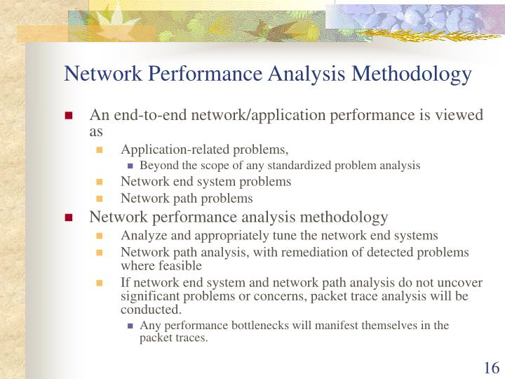 Network Performance Analysis Methodology