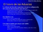el futuro de las aduanas