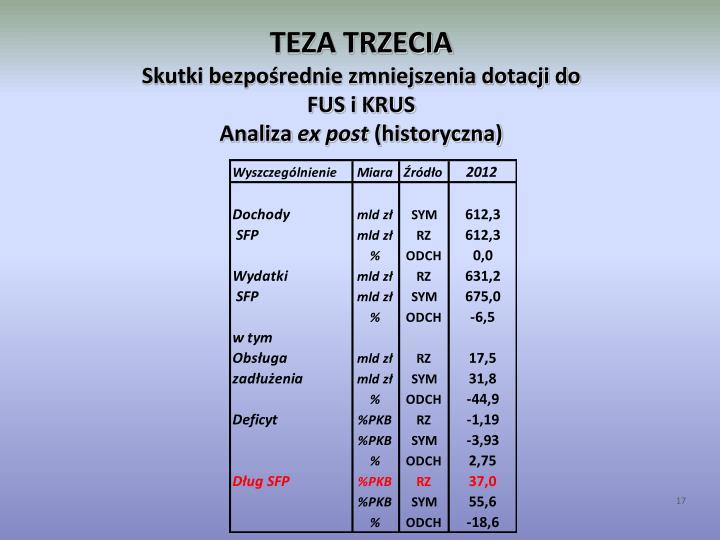 TEZA TRZECIA