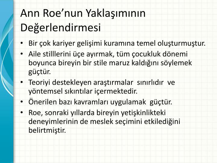 Ann Roe