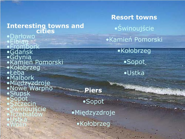 Resort towns