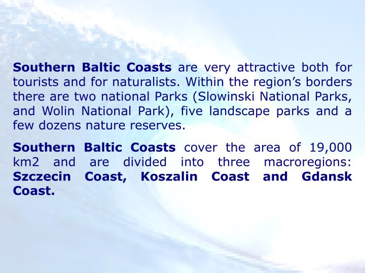 Southern Baltic Coasts