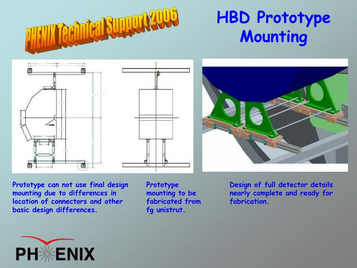HBD Prototype Mounting