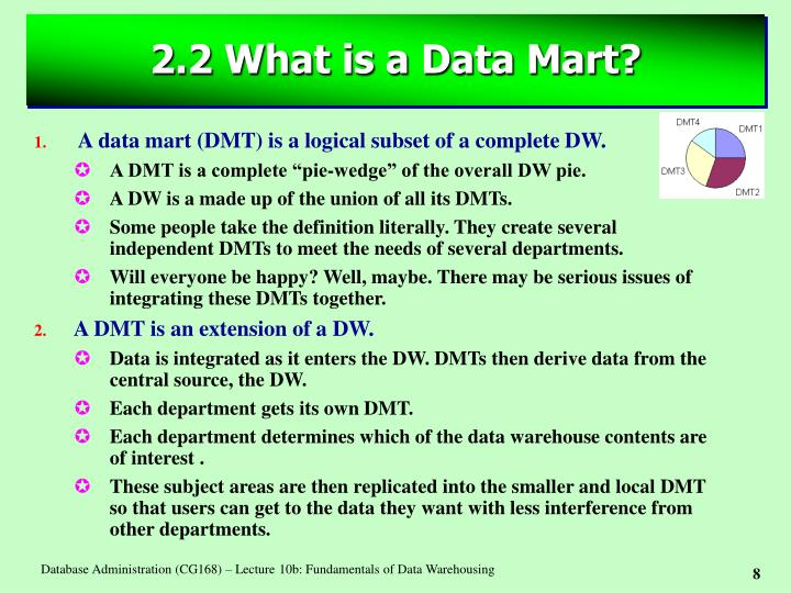 2.2 What is a Data Mart?