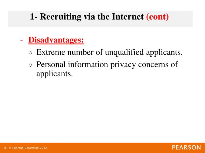 1- Recruiting via the Internet