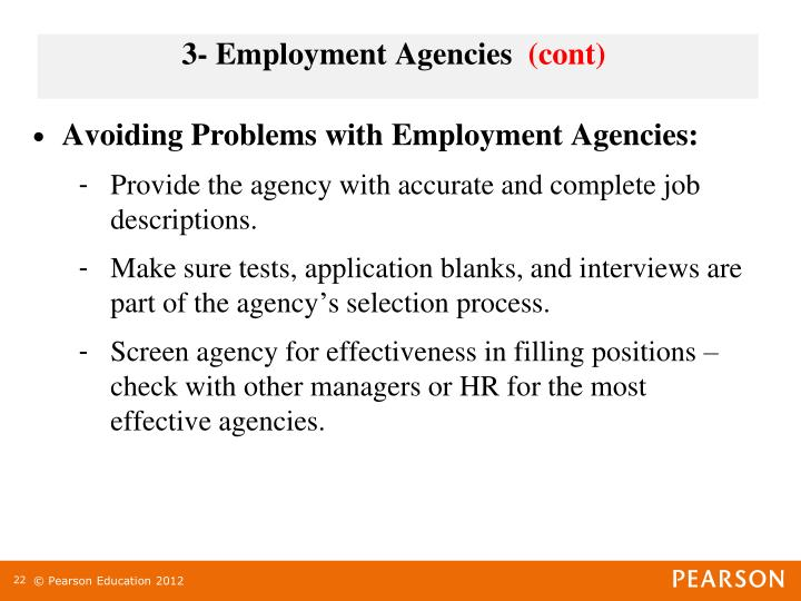 3- Employment Agencies