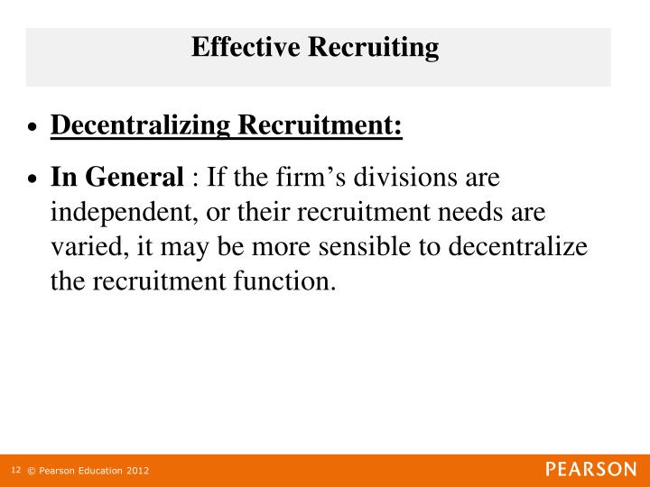 Effective Recruiting