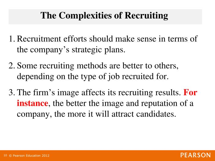 The Complexities of Recruiting