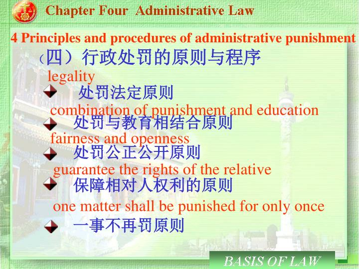 4 Principles and procedures of administrative punishment