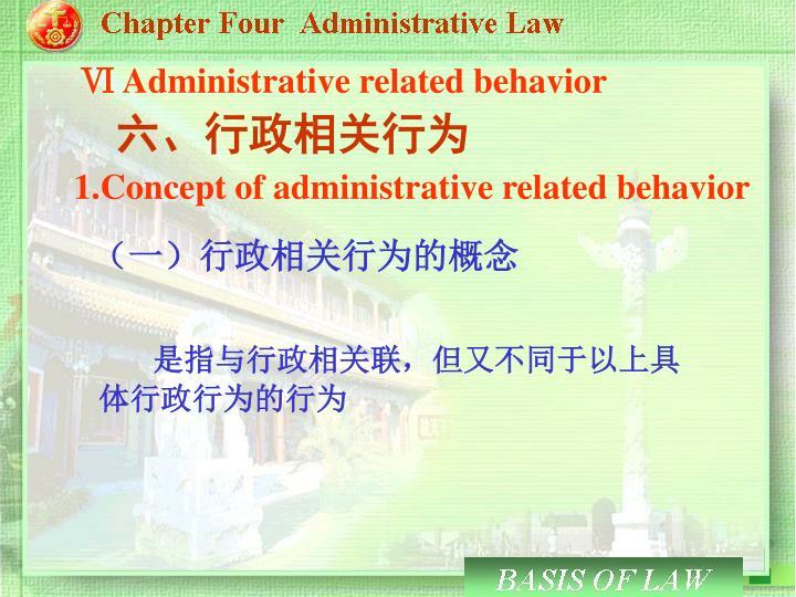 Ⅵ Administrative related behavior