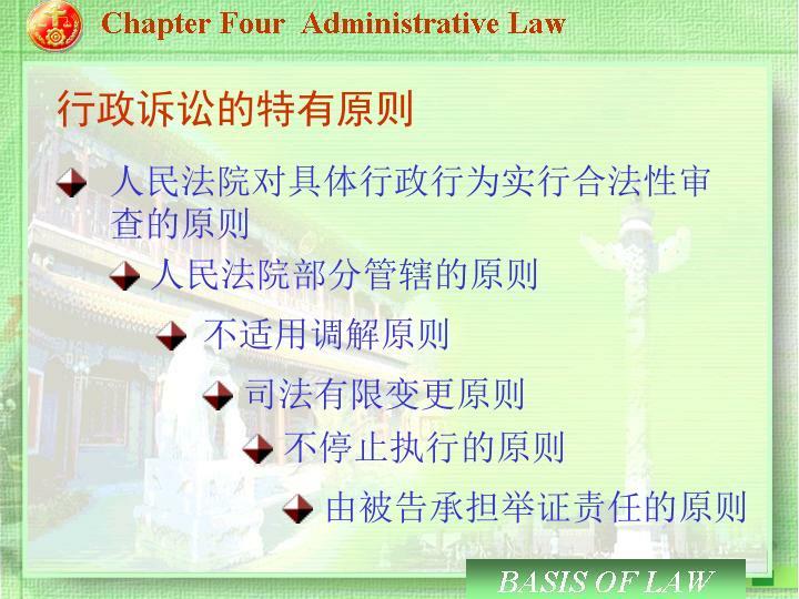 行政诉讼的特有原则