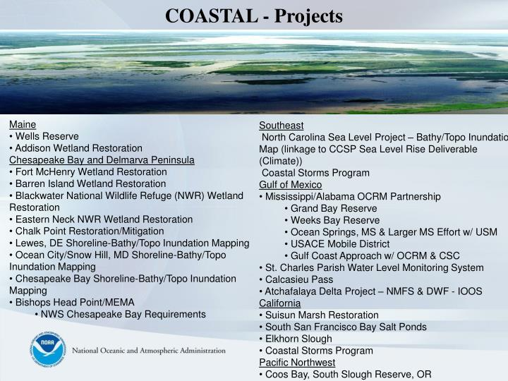 COASTAL - Projects