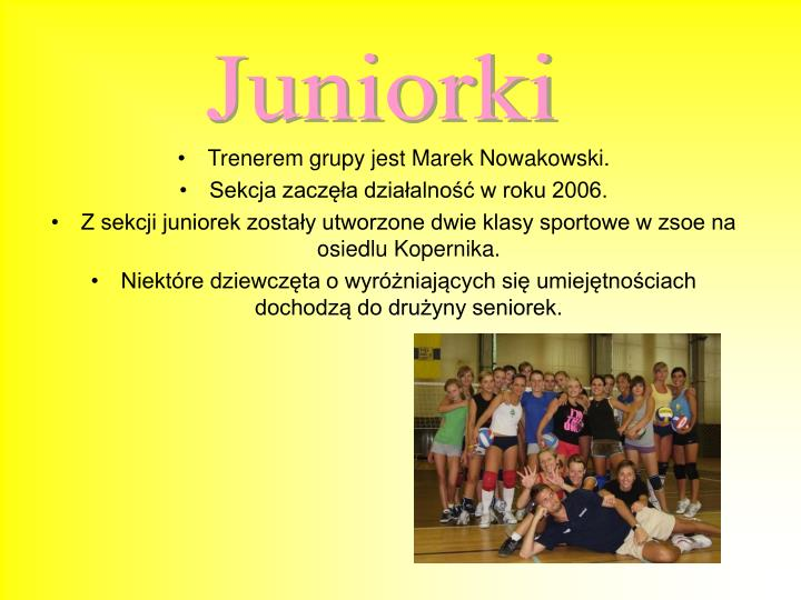 Juniorki