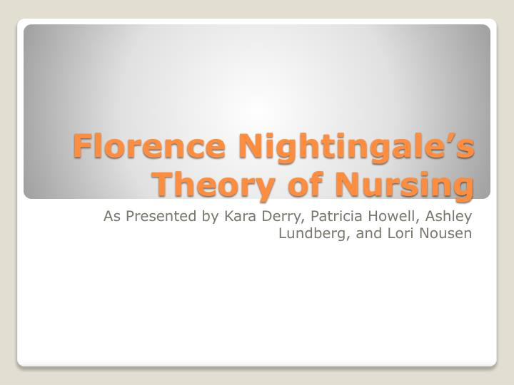 florence nightingale theory research paper Free essay: this paper will examine the origin of the nursing theory in reference to the florence nightingale theory of positive manipulation of the.