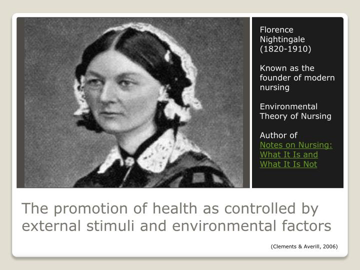 critique of florence nightingale s environmental theory Applying florence nightingale's model of nursing and the  o nightingale's  environmental theory  against the disease was critical.