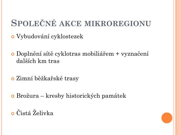 Společné akce mikroregionu
