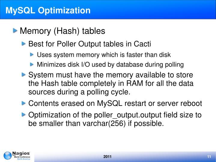 MySQL Optimization