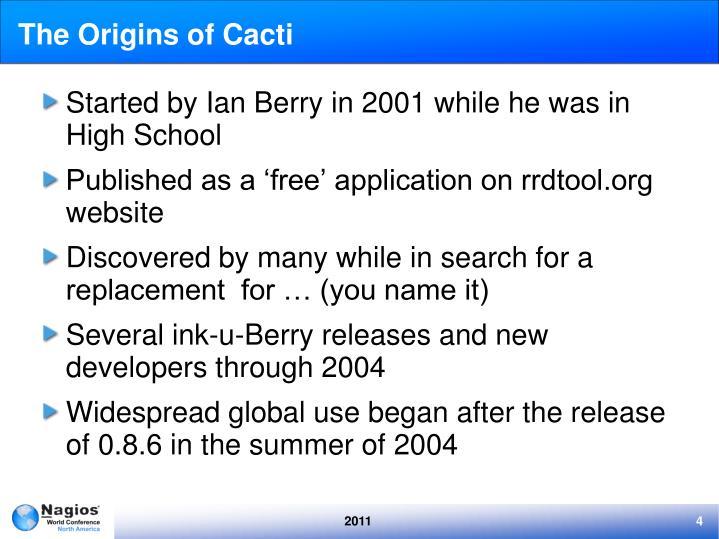 The Origins of Cacti