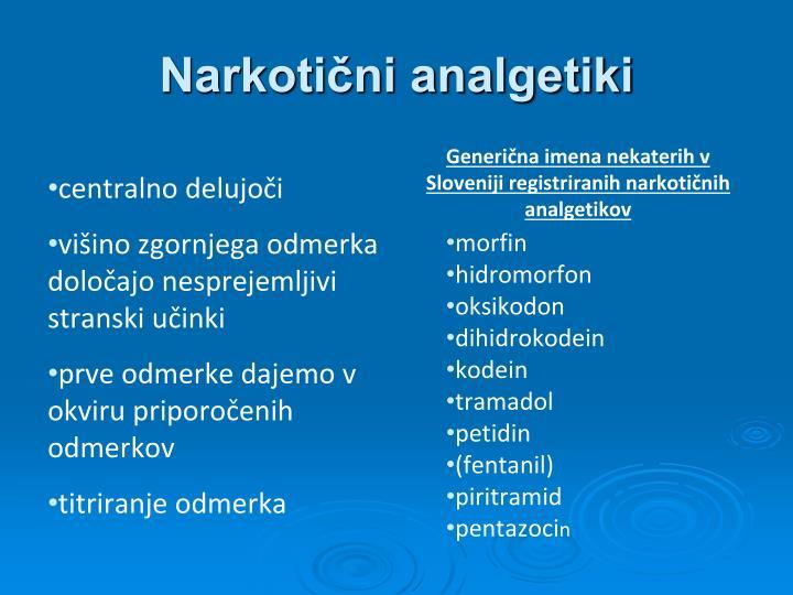 Narkotični analgetiki
