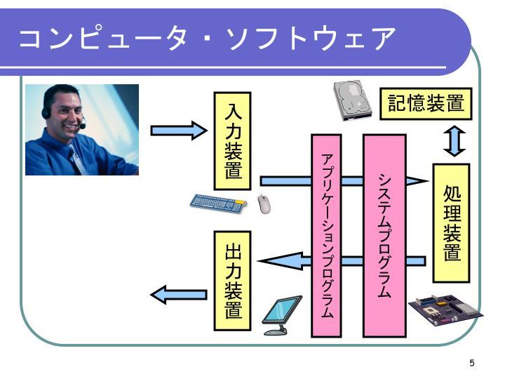 コンピュータ・ソフトウェア