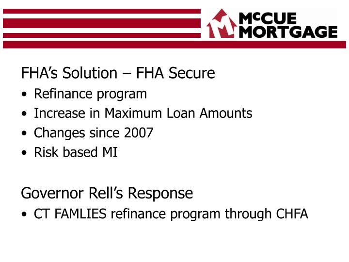 FHA's Solution – FHA Secure