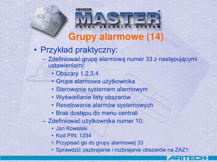 Grupy alarmowe (14)