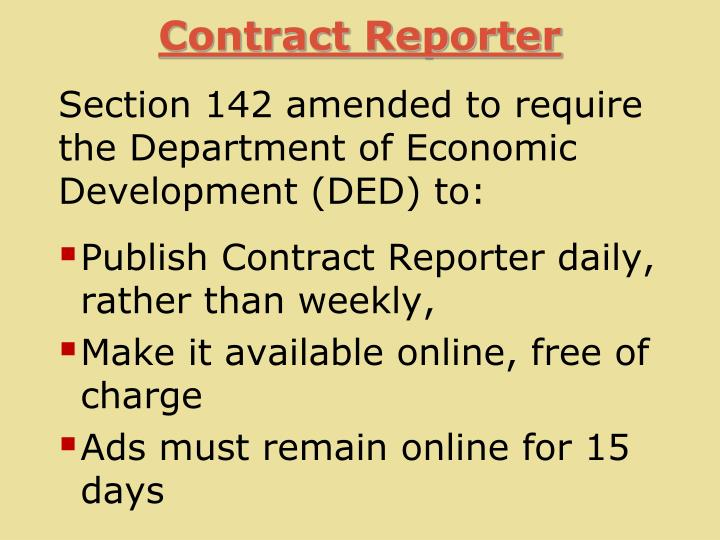 Contract Reporter