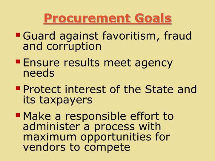 Procurement Goals