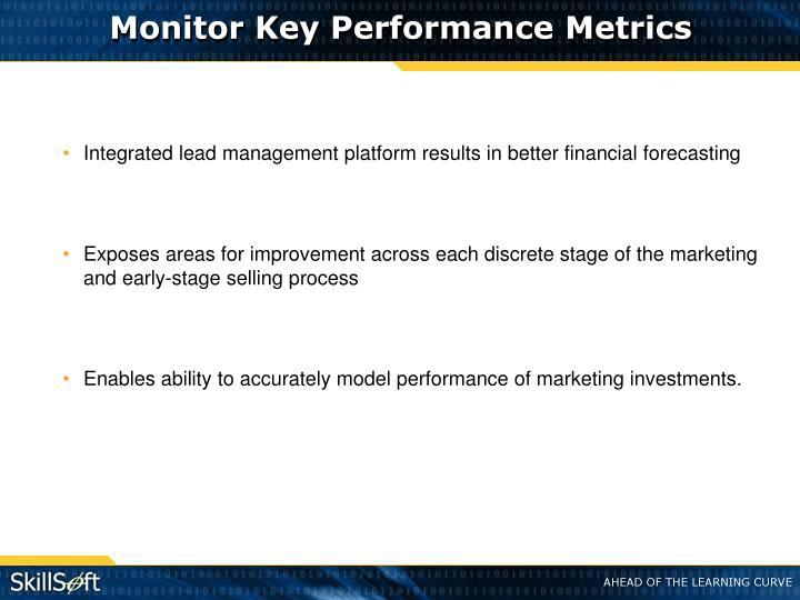 Monitor Key Performance Metrics