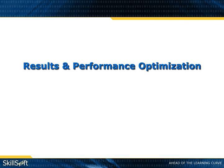 Results & Performance Optimization