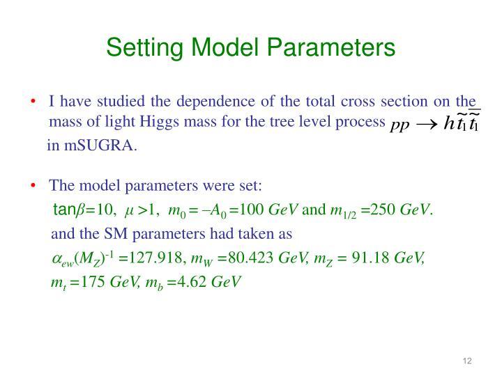 Setting Model Parameters