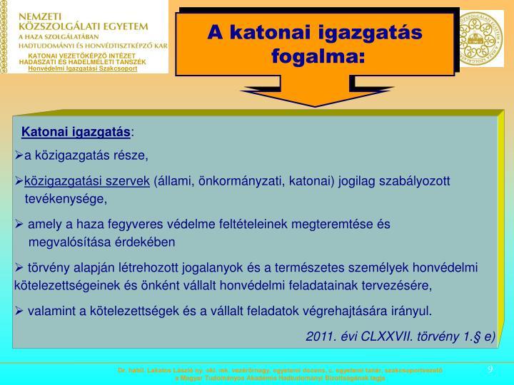KATONAI VEZETŐKÉPZŐ INTÉZET