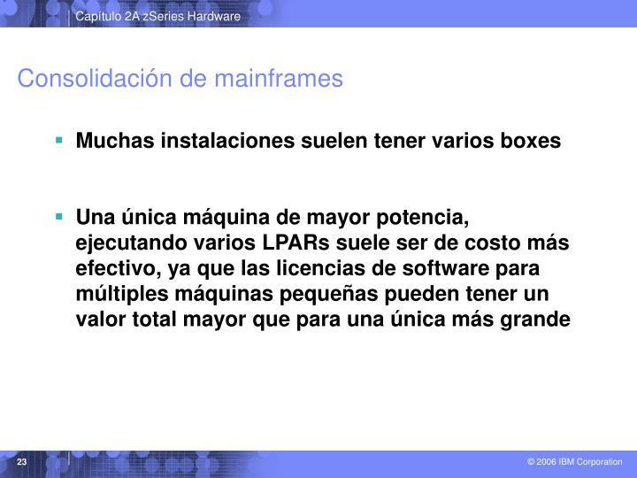 Consolidación de mainframes
