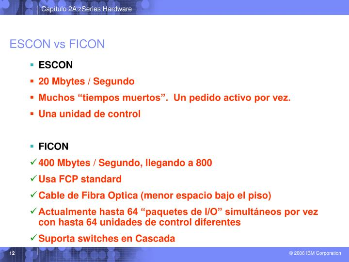 ESCON vs FICON