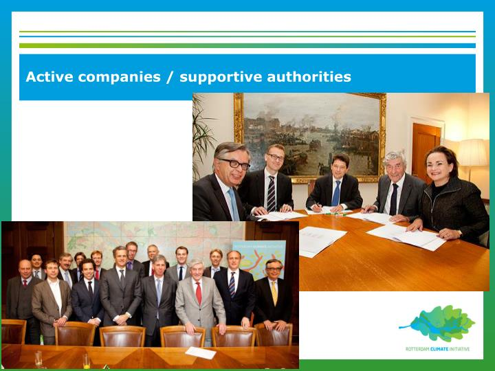 Active companies / supportive authorities