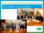 active companies supportive authorities