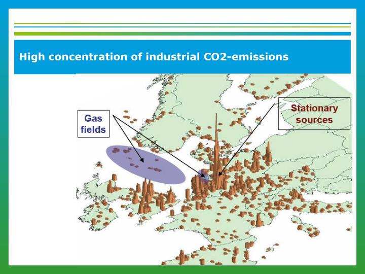 High concentration of industrial CO2-emissions