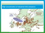 high concentration of industrial co2 emissions