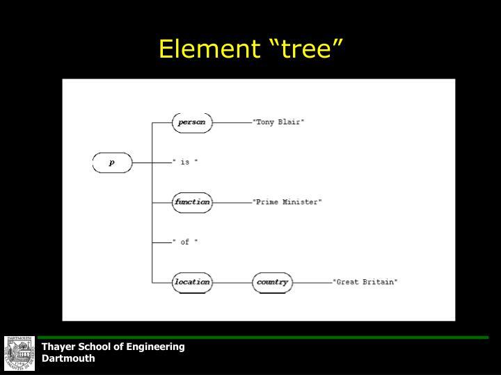 """Element """"tree"""""""